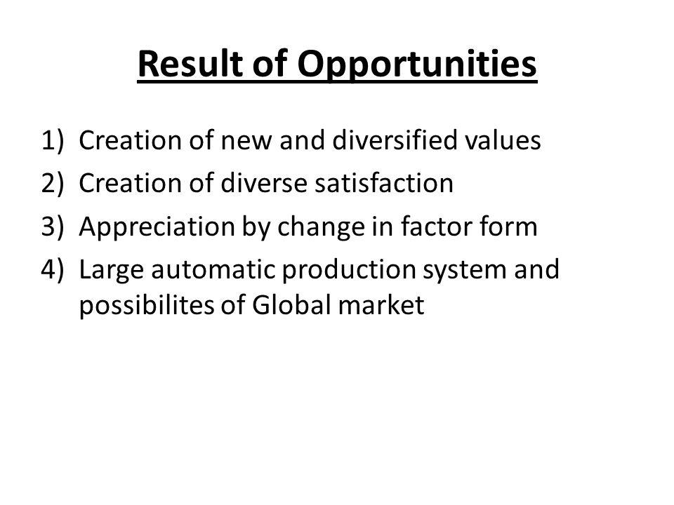 Result of Opportunities