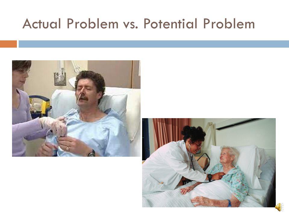 Actual Problem vs. Potential Problem