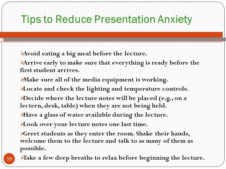 Tips to Reduce Presentation Anxiety