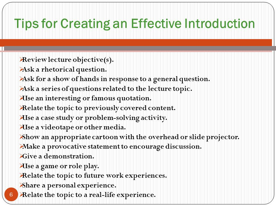 Tips for Creating an Effective Introduction