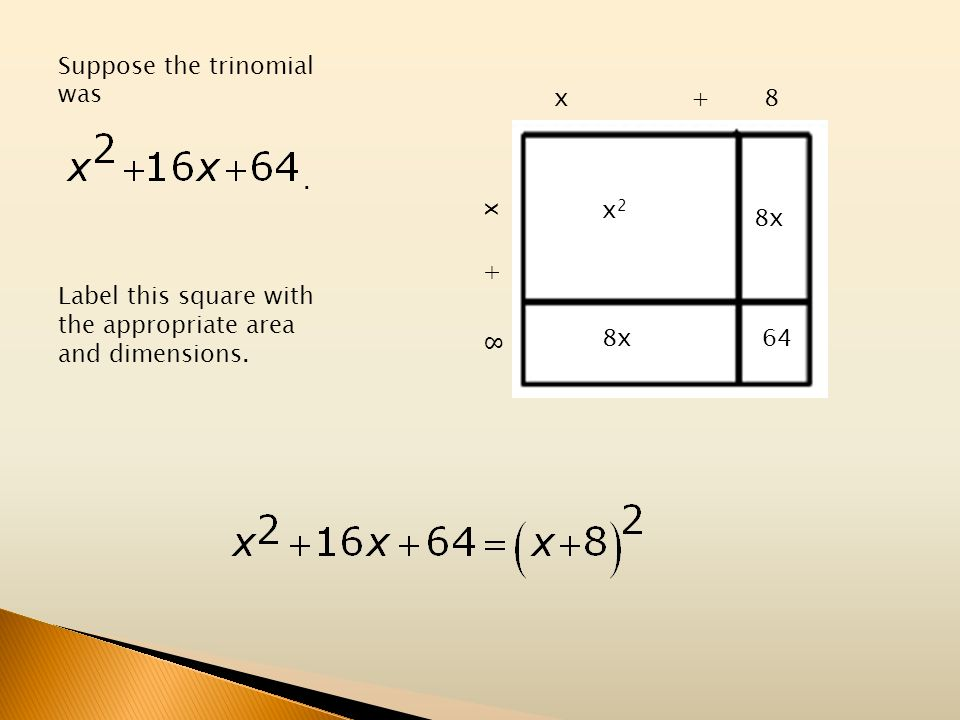 Suppose the trinomial was