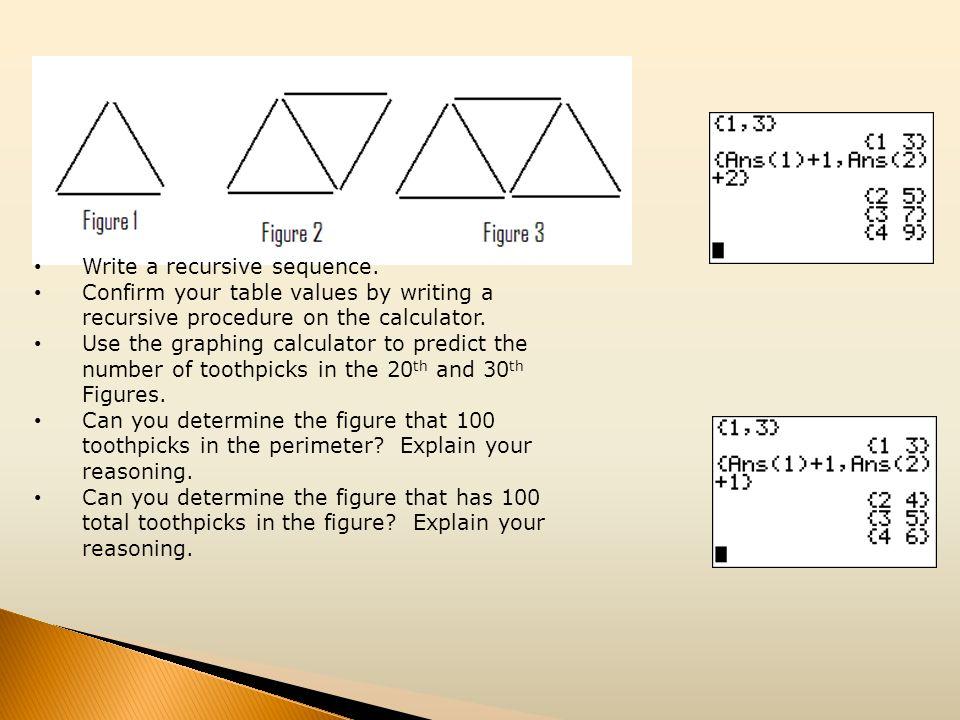 Write a recursive sequence.