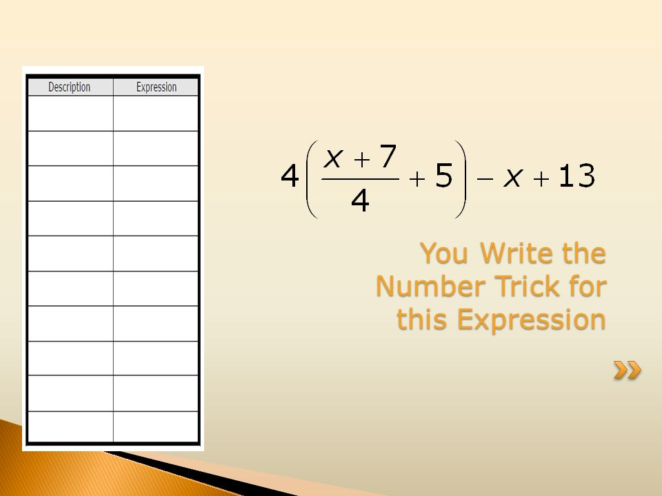 You Write the Number Trick for this Expression