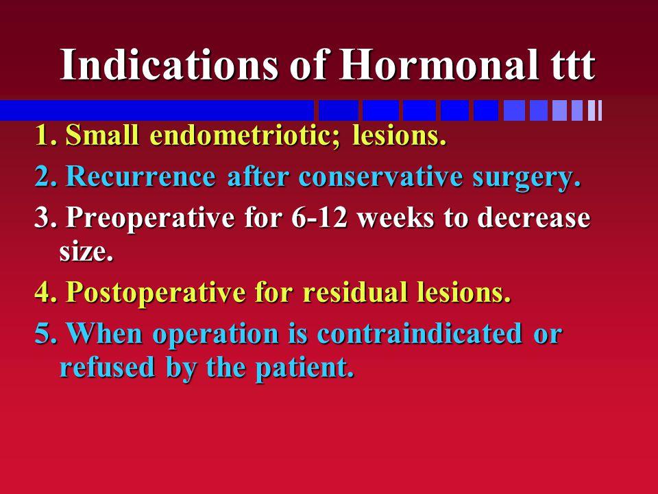 Indications of Hormonal ttt