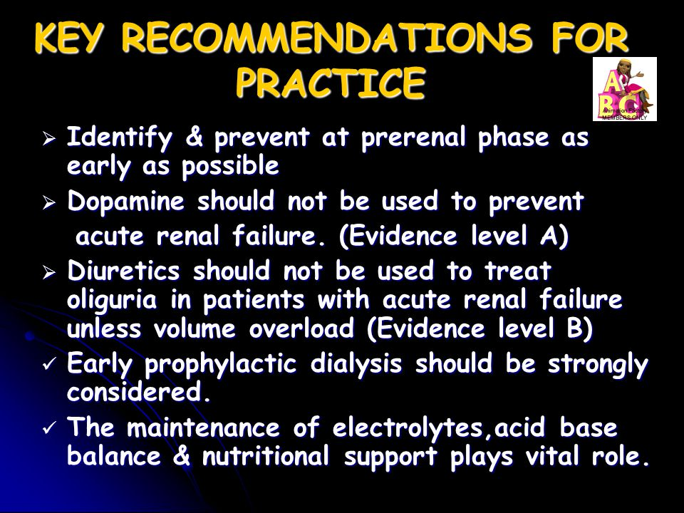 KEY RECOMMENDATIONS FOR PRACTICE