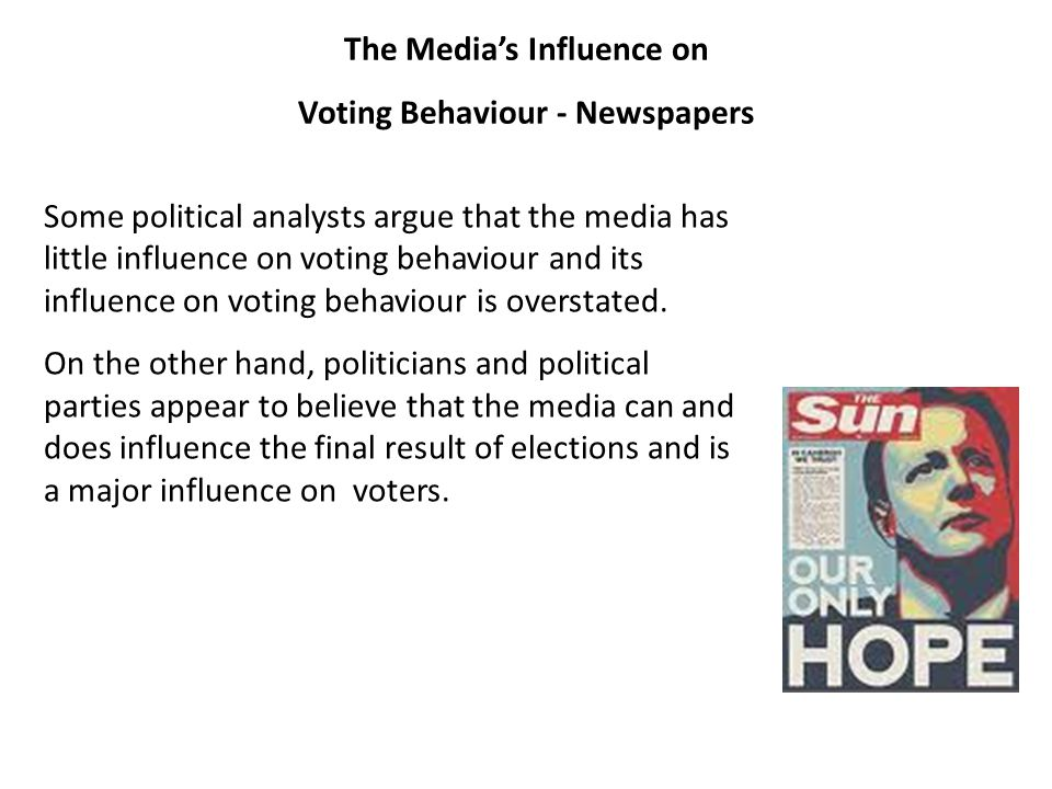 The Media's Influence on Voting Behaviour - Newspapers