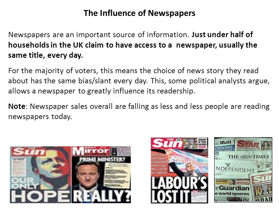 The Influence of Newspapers