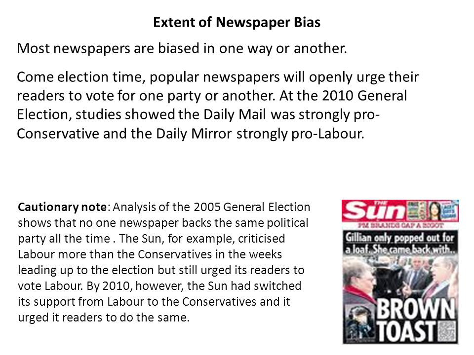 Extent of Newspaper Bias