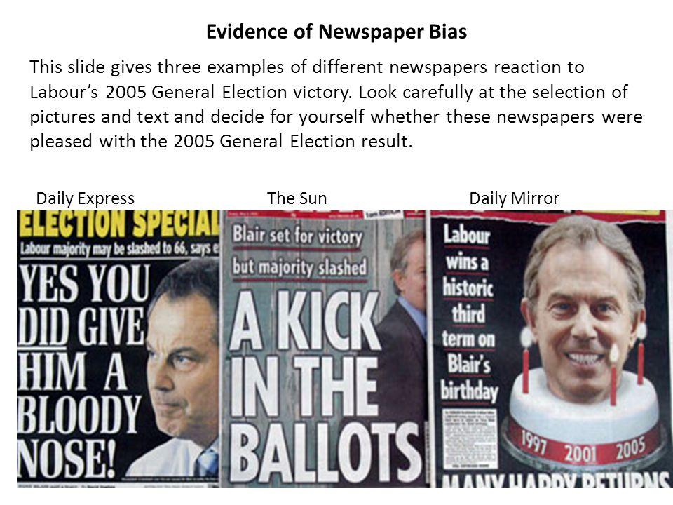 Evidence of Newspaper Bias