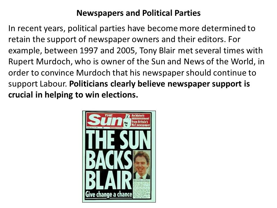 Newspapers and Political Parties