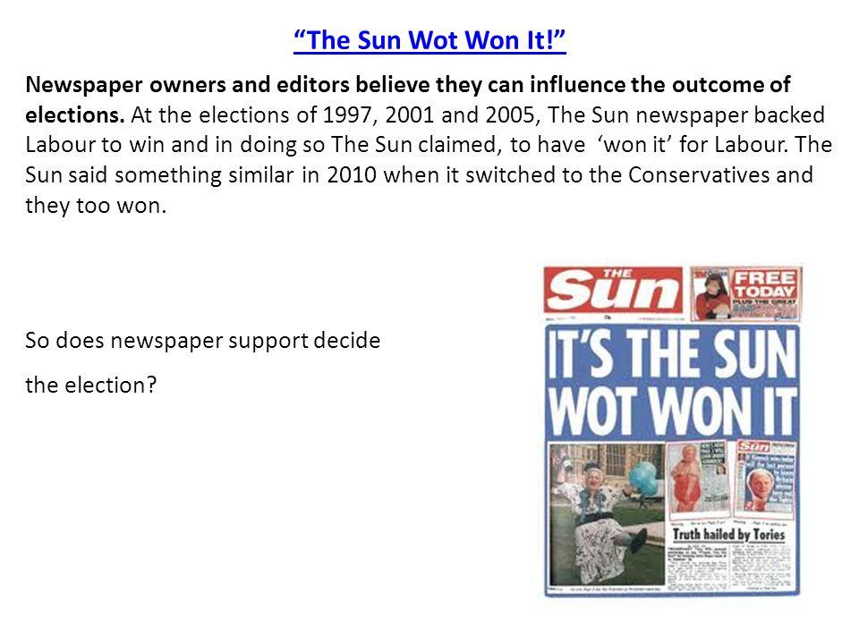 The Sun Wot Won It!