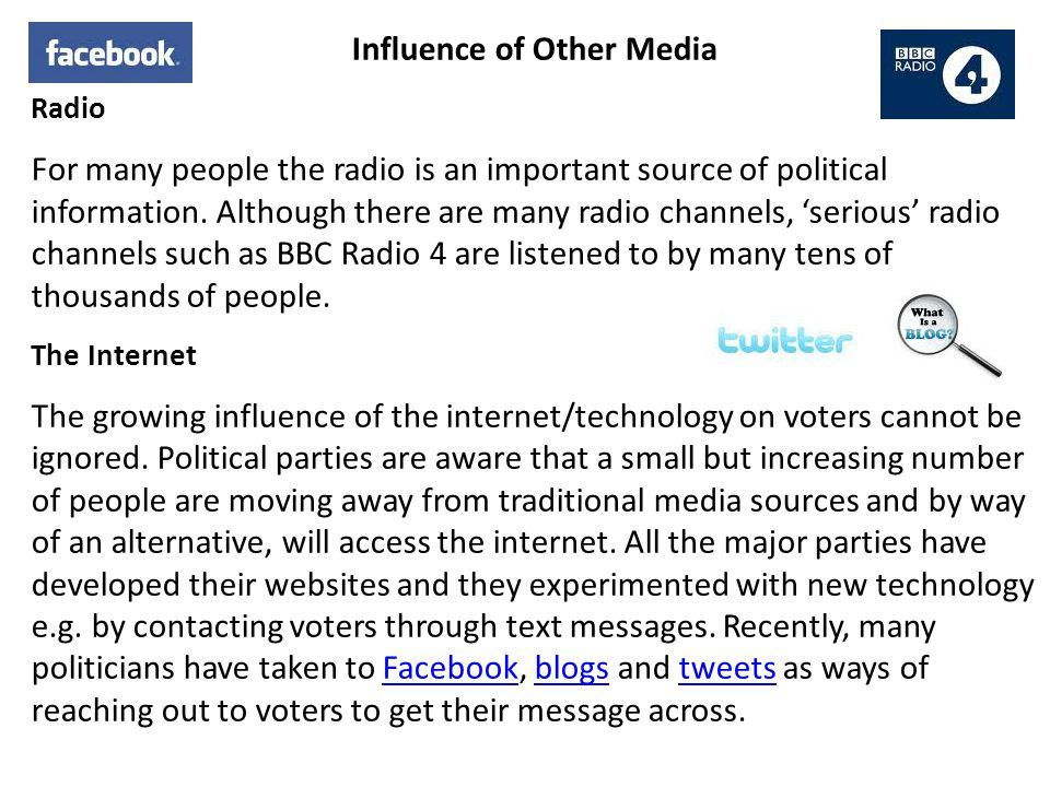 Influence of Other Media