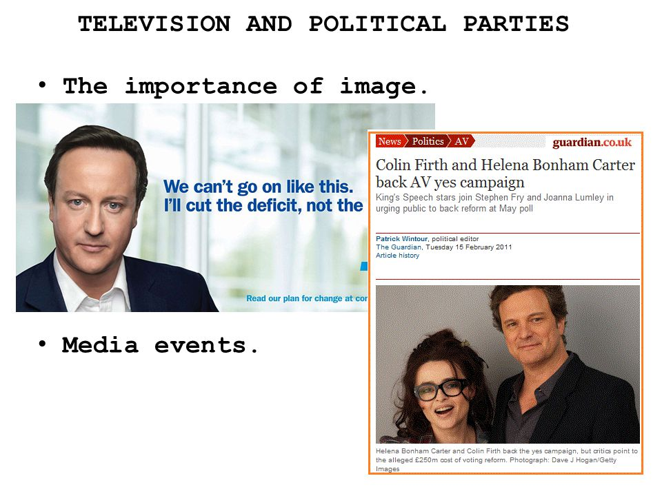 TELEVISION AND POLITICAL PARTIES