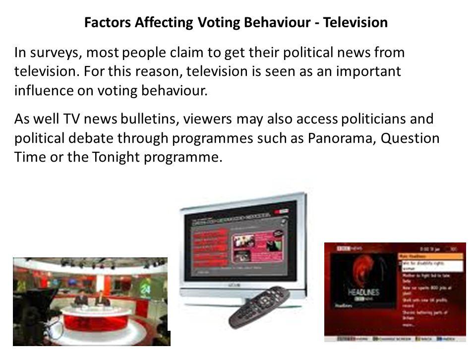 Factors Affecting Voting Behaviour - Television