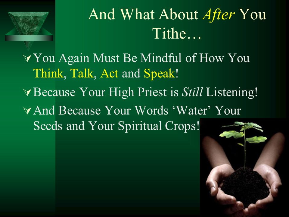 And What About After You Tithe…