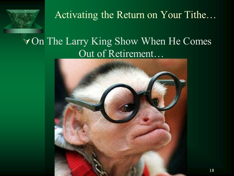 Activating the Return on Your Tithe…