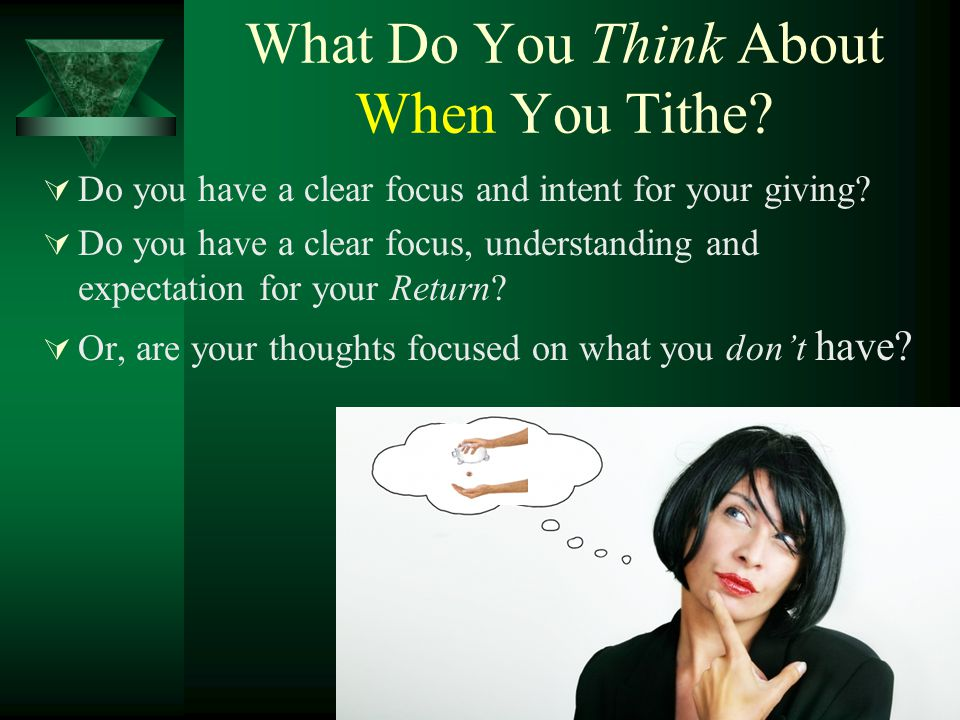 What Do You Think About When You Tithe