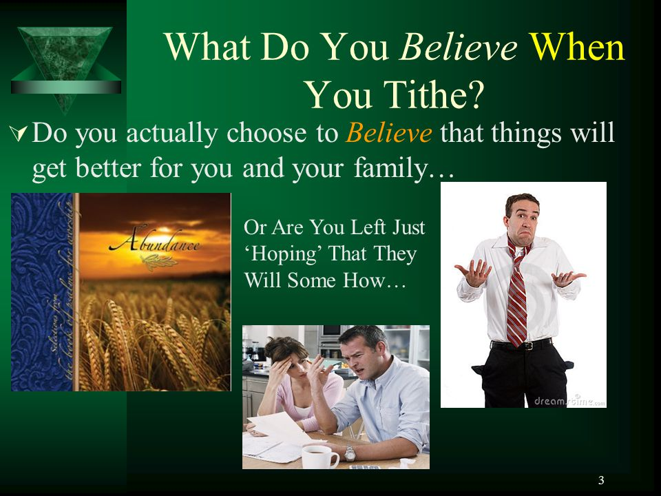 What Do You Believe When You Tithe