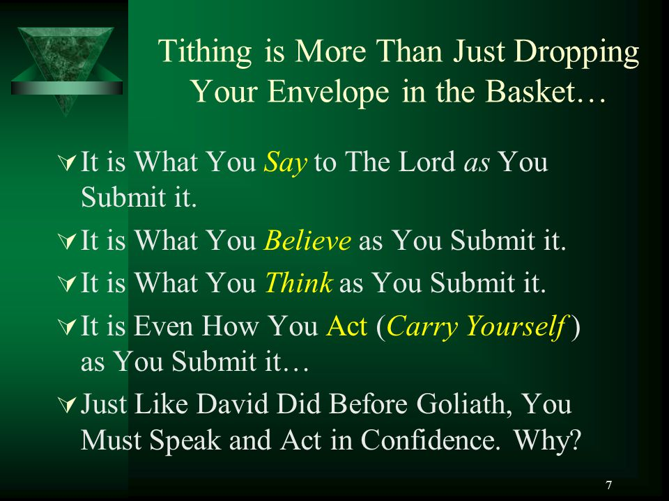 Tithing is More Than Just Dropping Your Envelope in the Basket…
