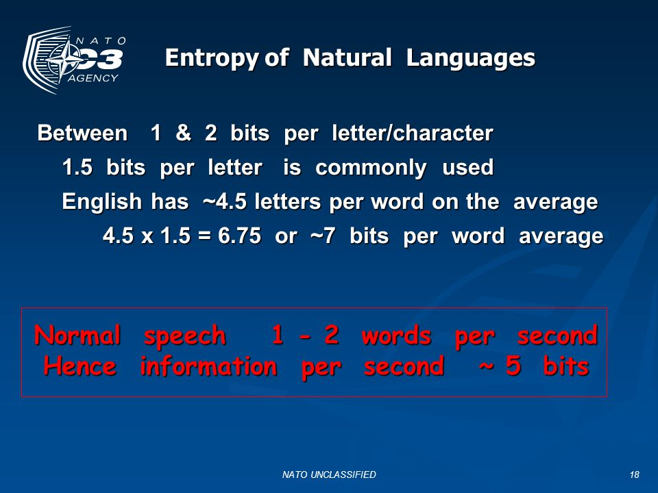 Entropy of Natural Languages