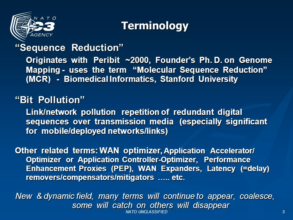Terminology Sequence Reduction
