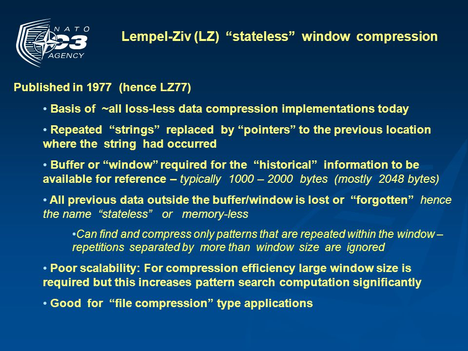 Lempel-Ziv (LZ) stateless window compression
