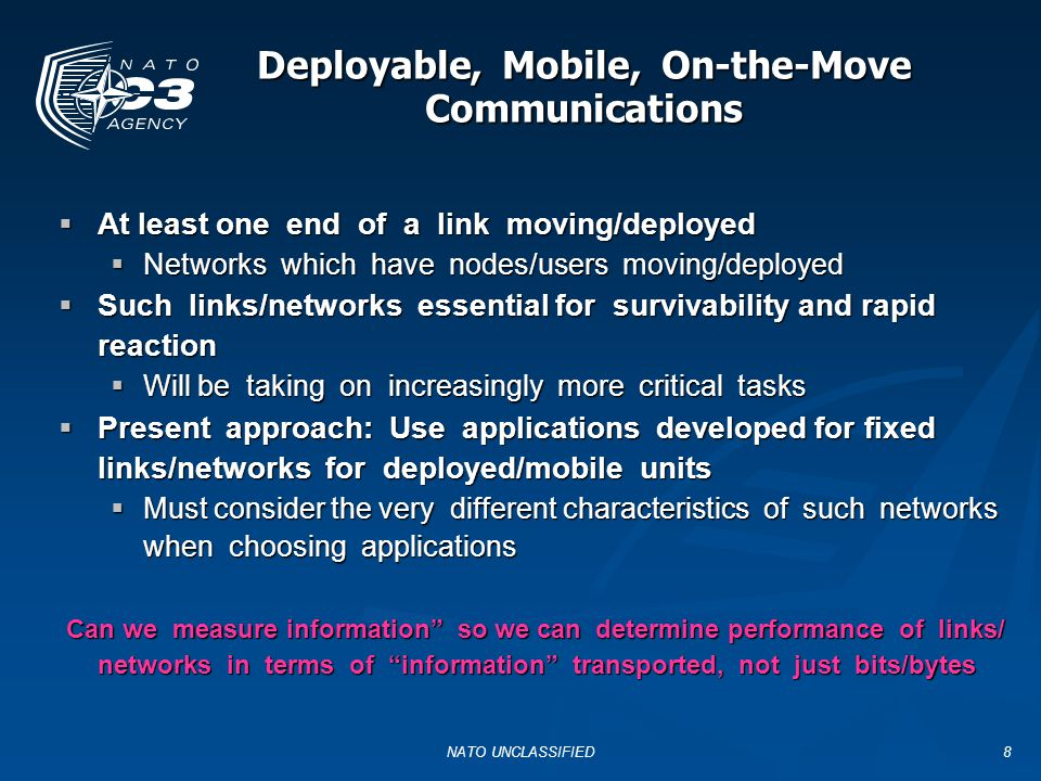 Deployable, Mobile, On-the-Move Communications