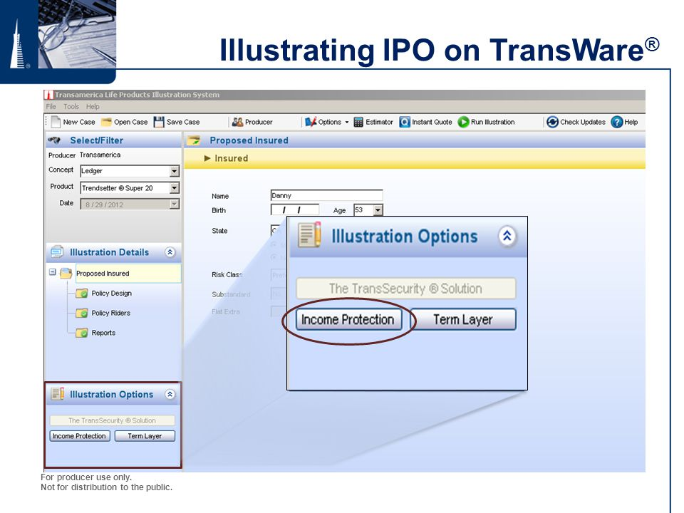Illustrating IPO on TransWare®