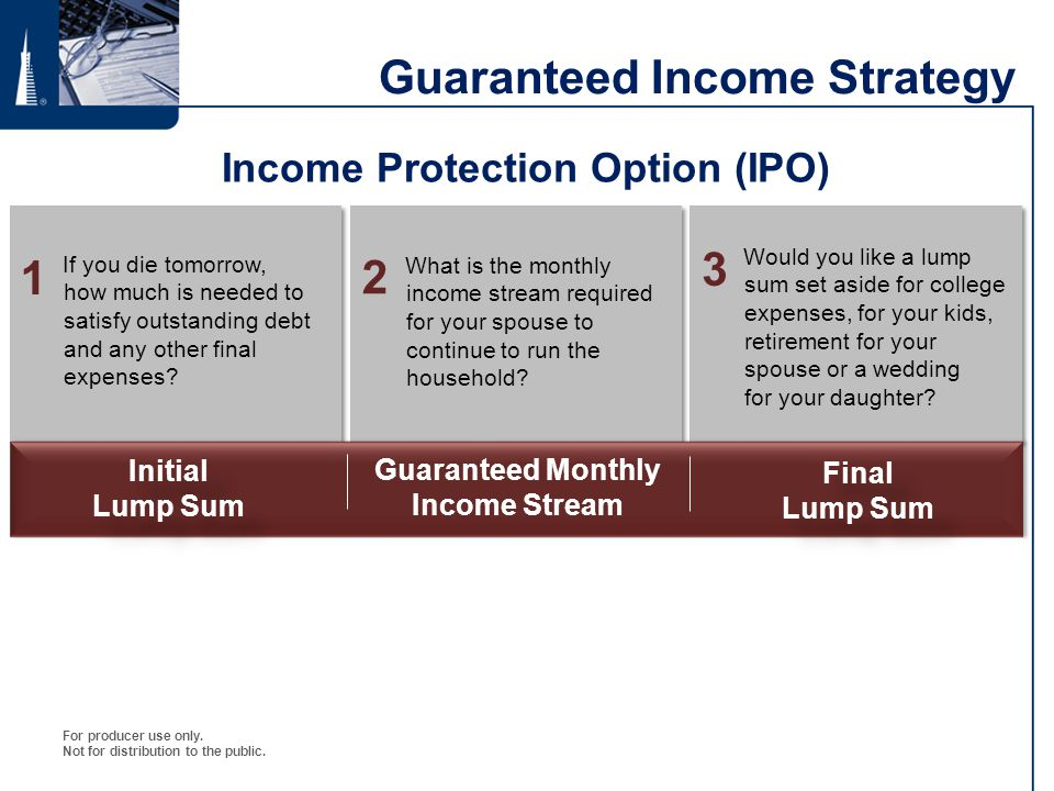 Guaranteed Income Strategy
