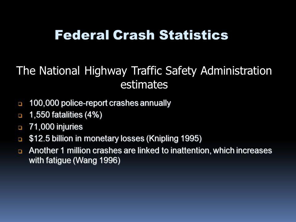 Federal Crash Statistics