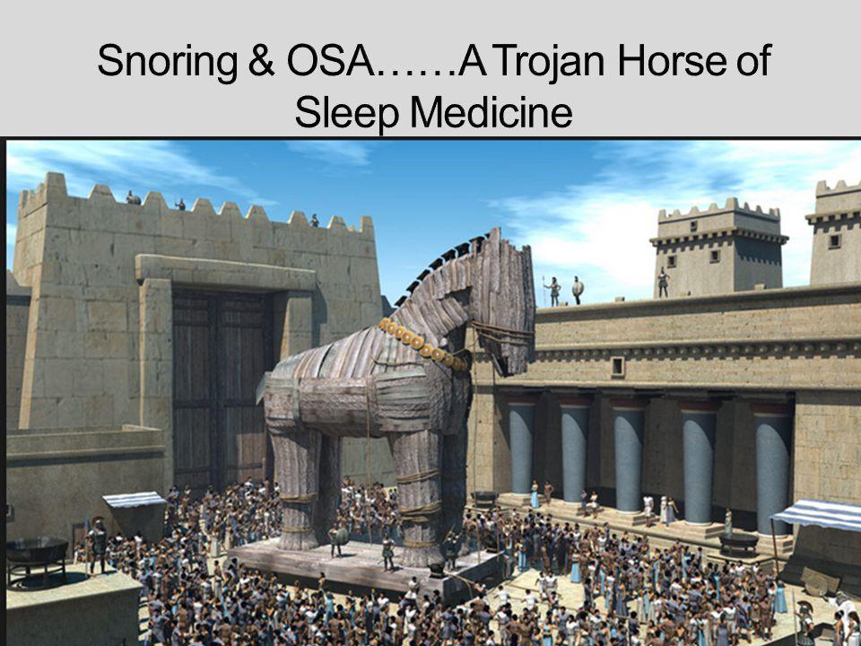 Snoring & OSA……A Trojan Horse of Sleep Medicine