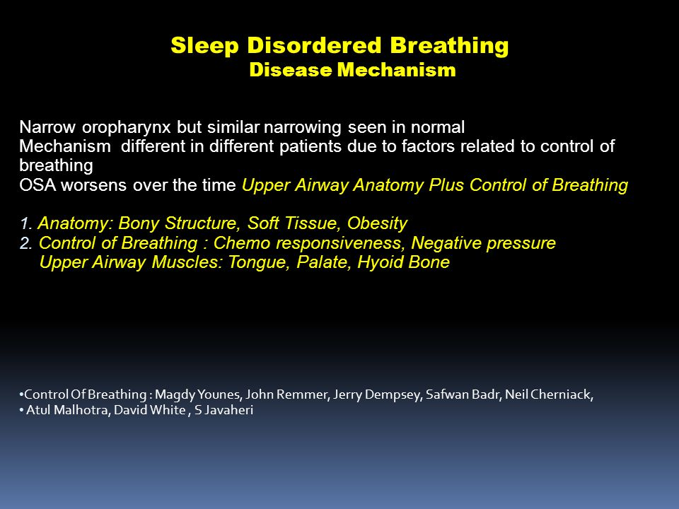 Sleep Disordered Breathing Disease Mechanism