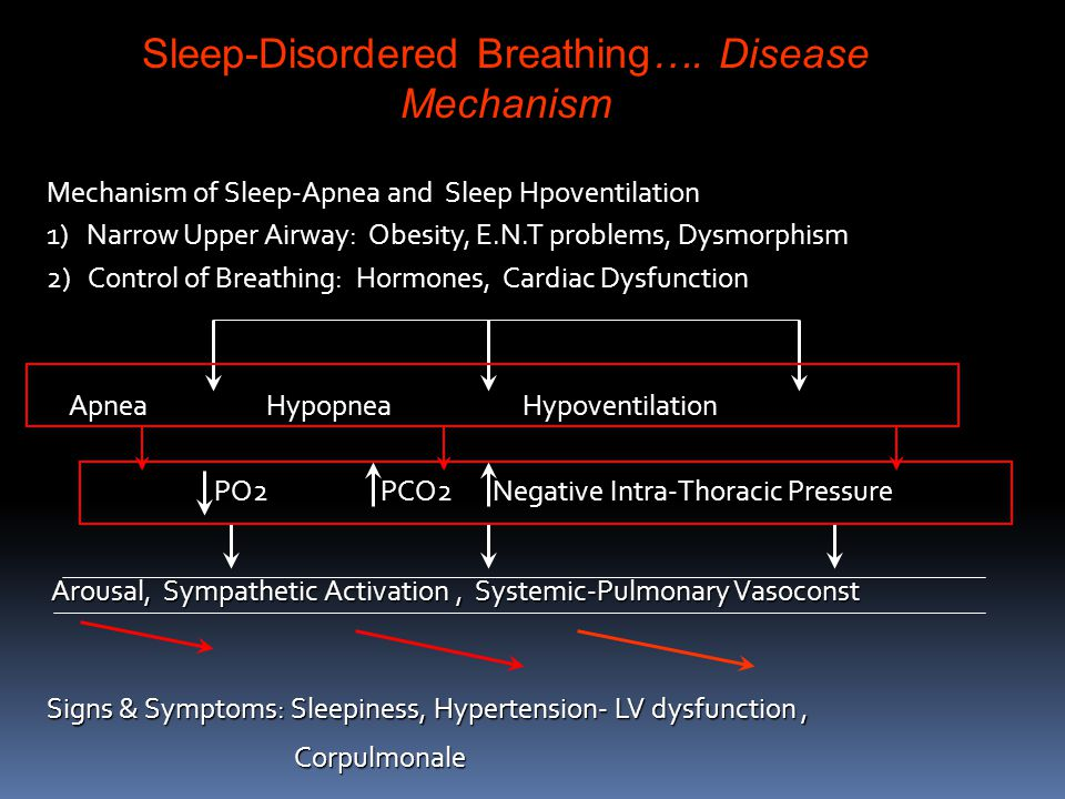 Sleep-Disordered Breathing…. Disease Mechanism