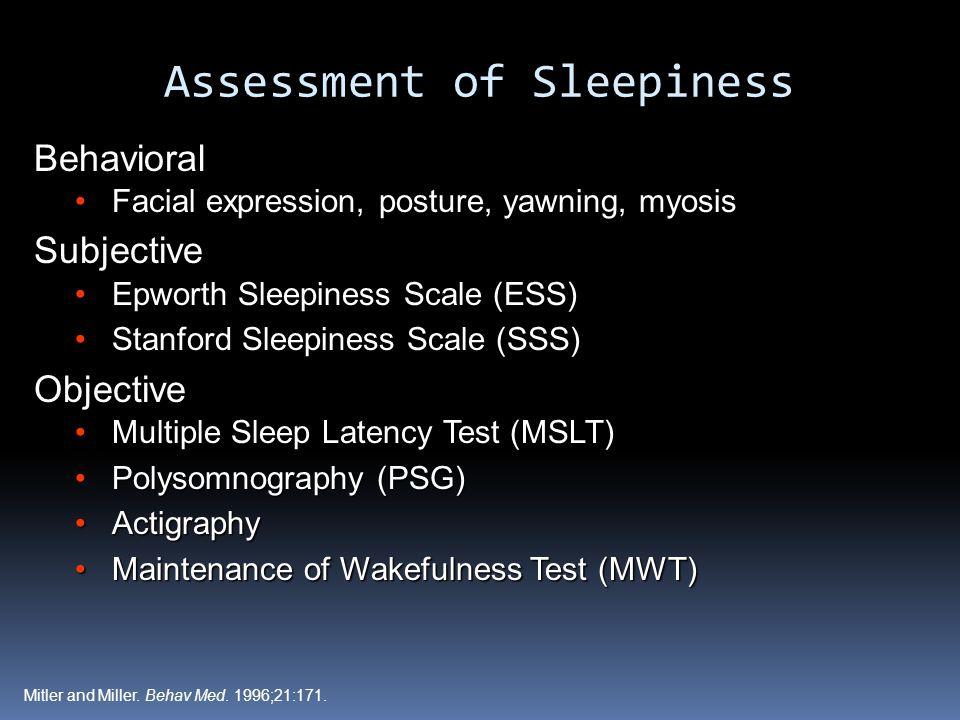 Assessment of Sleepiness
