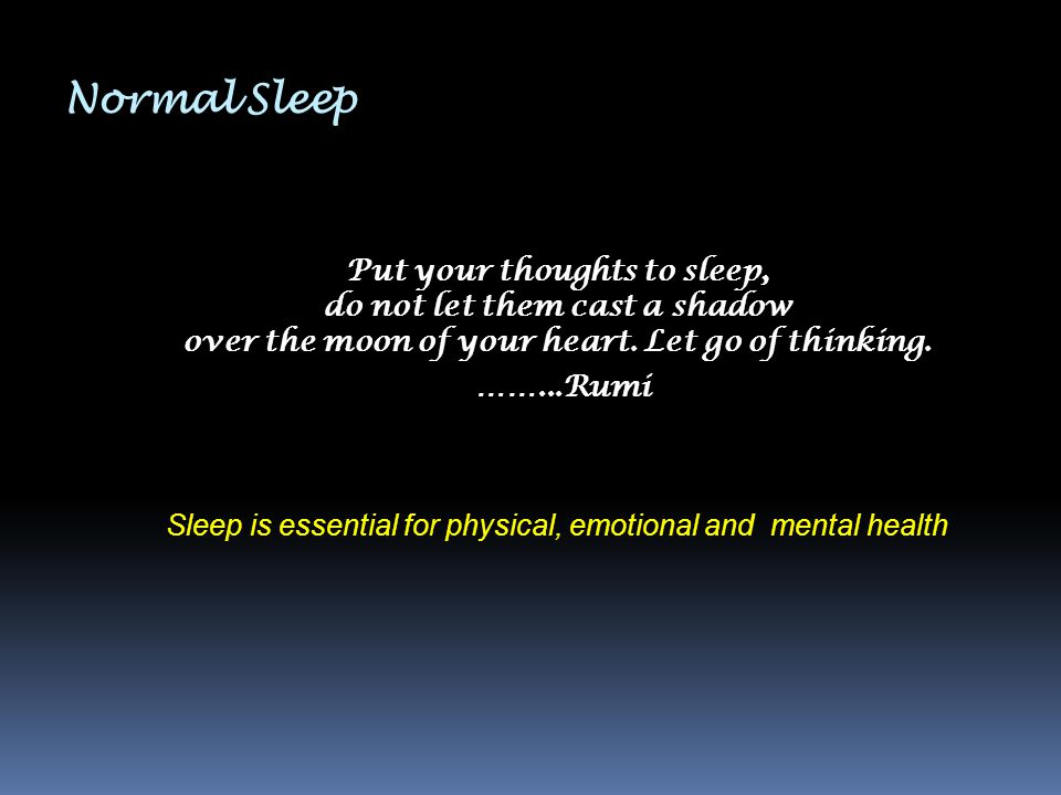 Normal Sleep