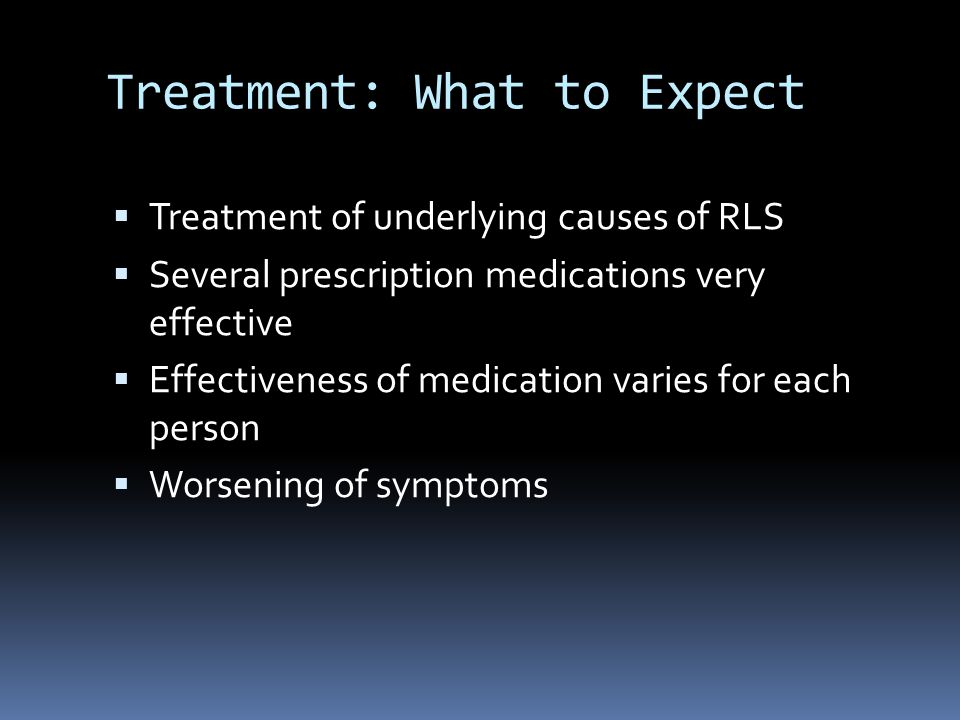 Treatment: What to Expect