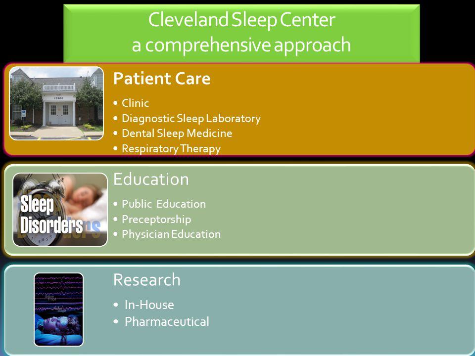 Cleveland Sleep Center a comprehensive approach