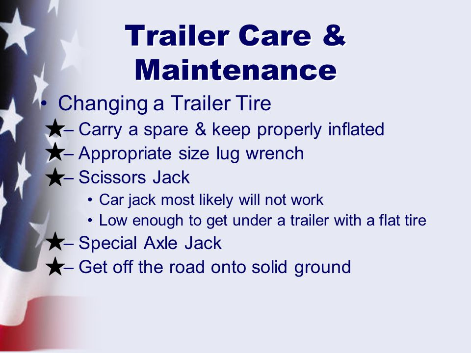 Trailer Care & Maintenance