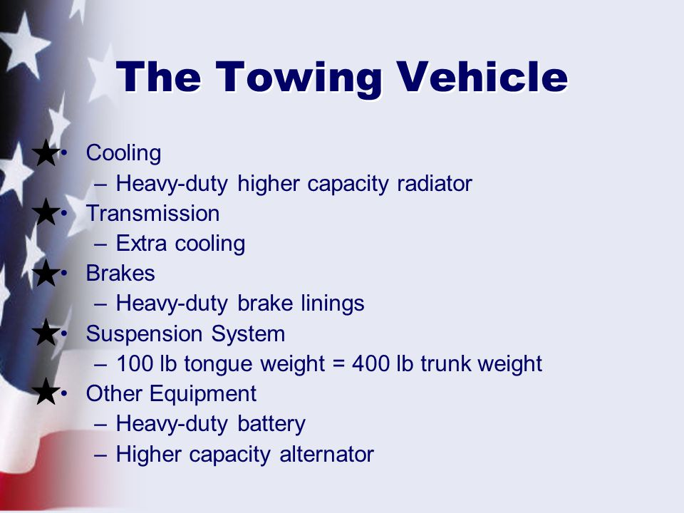 The Towing Vehicle Cooling Heavy-duty higher capacity radiator