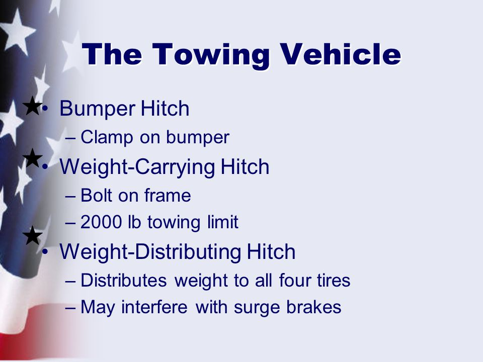The Towing Vehicle Bumper Hitch Weight-Carrying Hitch