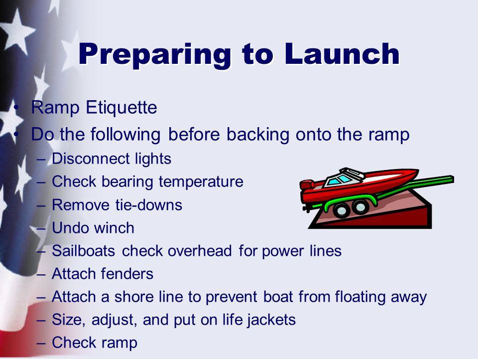 Preparing to Launch Ramp Etiquette