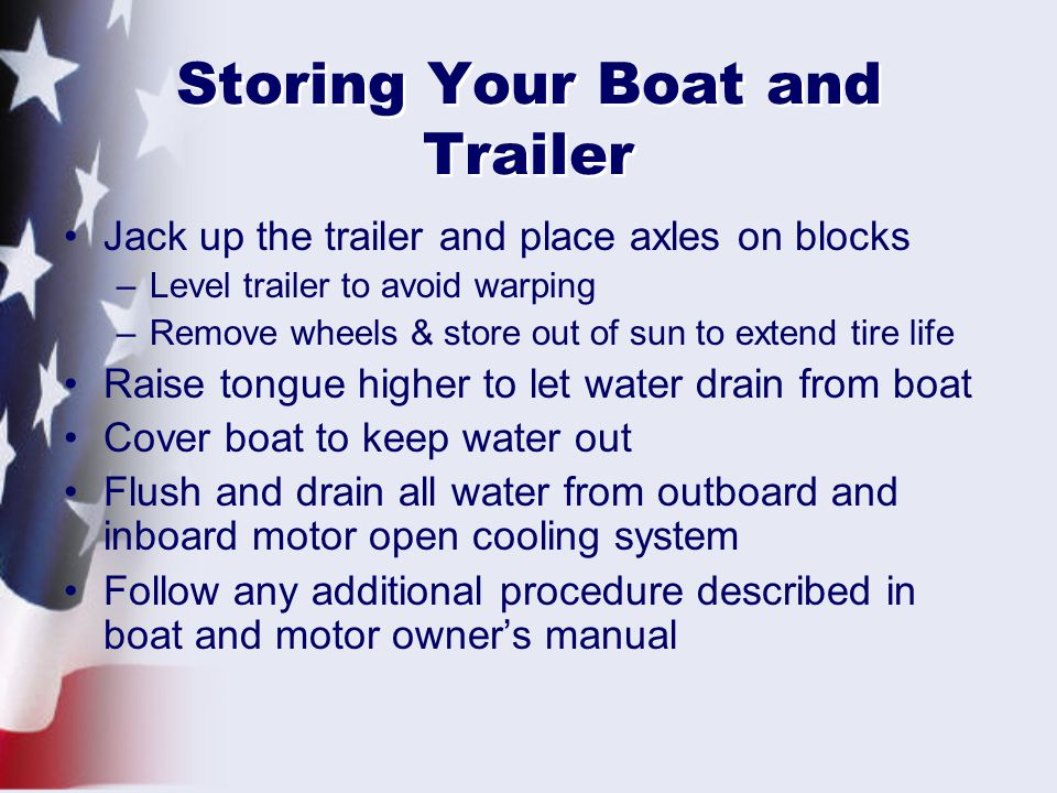 Storing Your Boat and Trailer