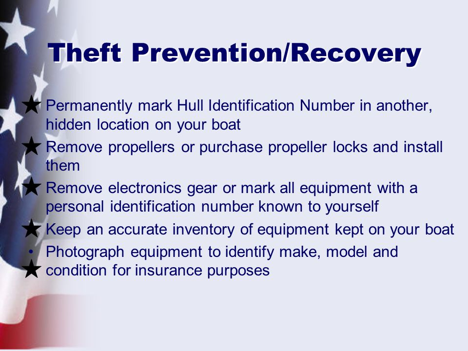 Theft Prevention/Recovery