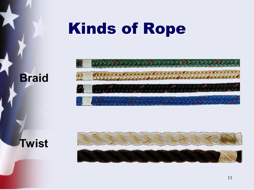 Kinds of Rope Braid Twist