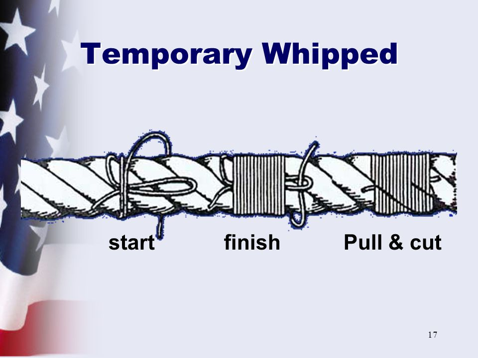 Temporary Whipped start finish Pull & cut