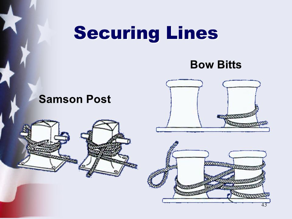 Securing Lines Bow Bitts Samson Post