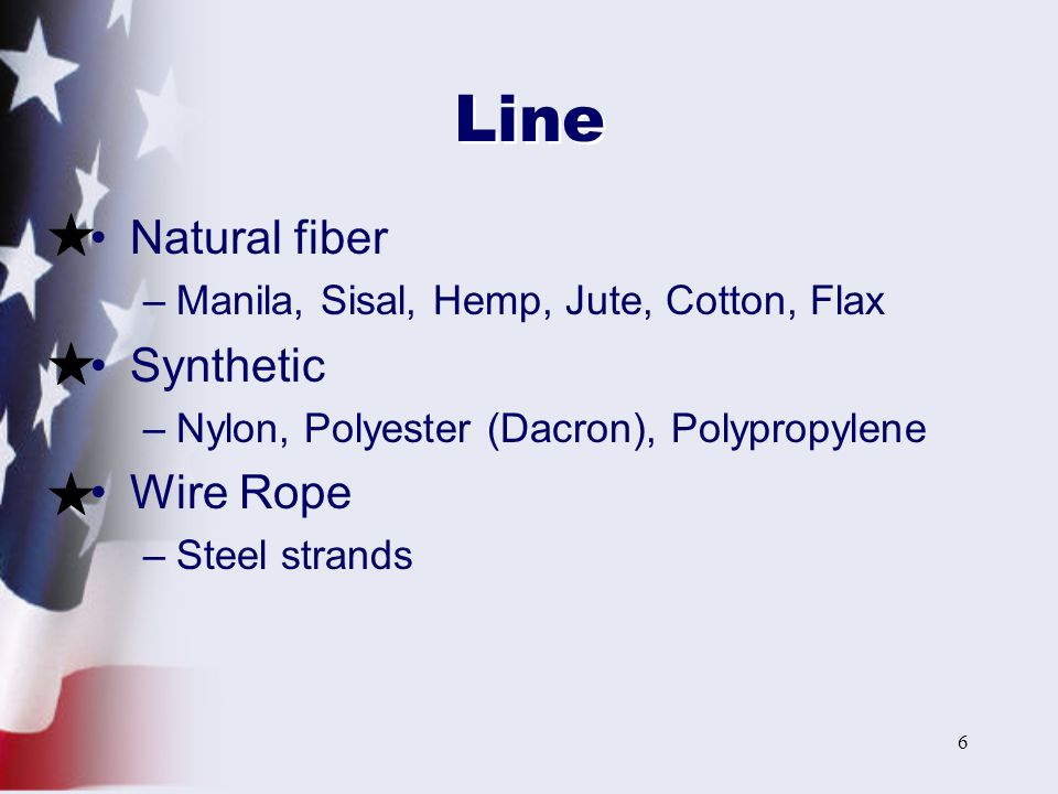 Line Natural fiber Synthetic Wire Rope