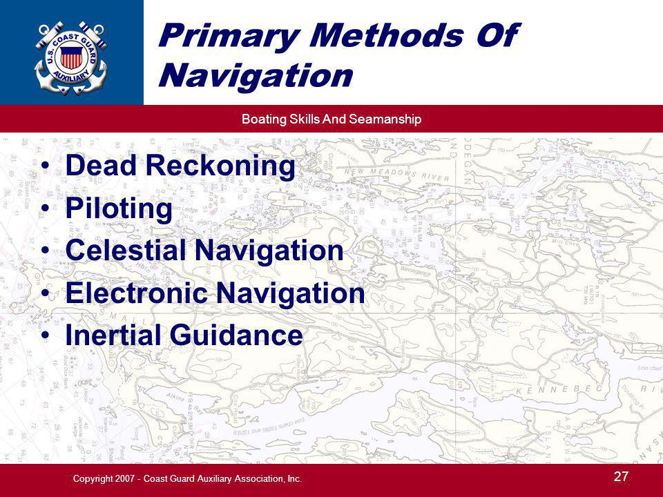 Primary Methods Of Navigation