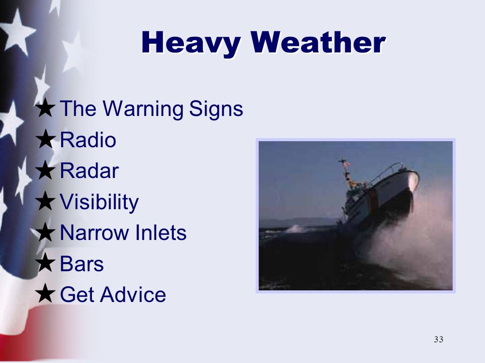 Heavy Weather The Warning Signs Radio Radar Visibility Narrow Inlets