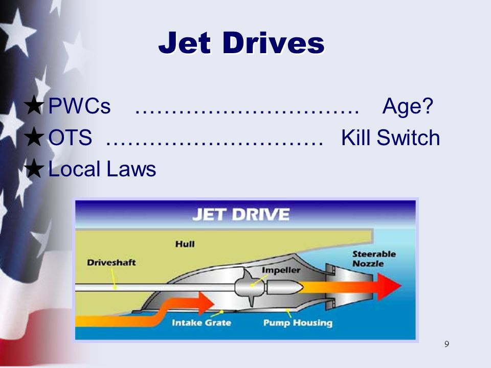Jet Drives PWCs …………………………. Age OTS ………………………… Kill Switch Local Laws